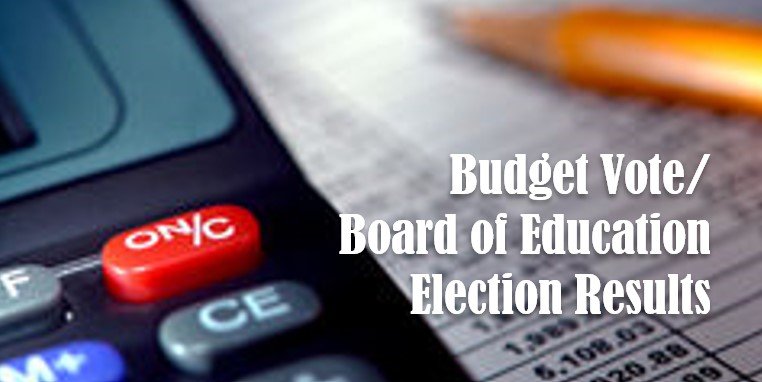 Budget Vote/Board of Education Election results